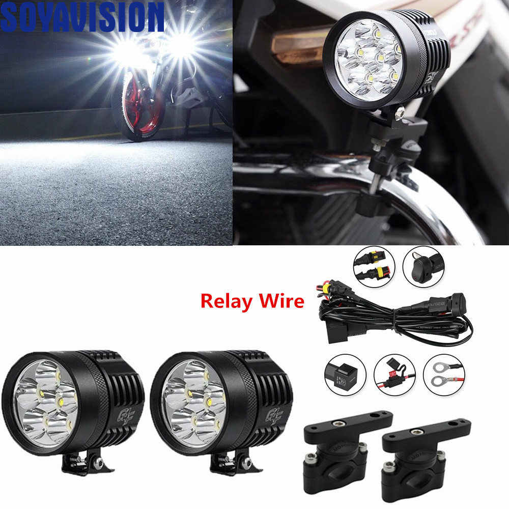 40W Led motorcycle headlight Fog DRL lamp led light car Universal Motorbike ATV bulb High Brightness For BMW Yamaha Kawasaki KTM