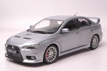 1:18 Diecast Model for Mitsubishi LANCER EVO X 10 Silver Alloy Toy Car Collection Gifts Evolution