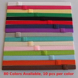 80 couleurs disponibles bandeaux interchangeables filles élastique bande de cheveux FOE bandeaux bricolage arc de cheveux extensible bandeaux élastiques