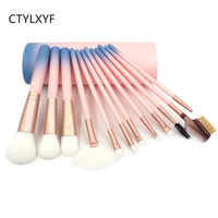 New Arrival Makeup Brushes Professional Cosmetics Brush Set 12pcs High Quality Top Synthetic Hair With Pink