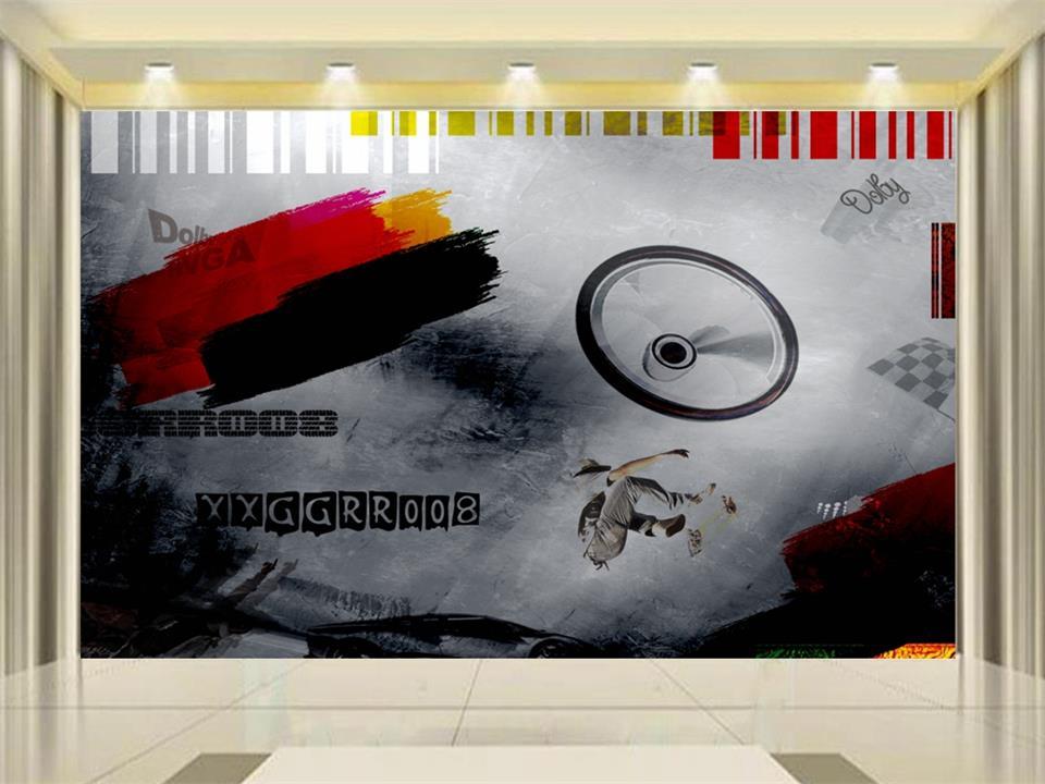 Benutzerdefinierte 3d Foto Tapete Wandbild Kinderzimmer Vlies Wandaufkleber Jungen Skateboard Malerei Sofa Tv Hintergrund Wandtapete