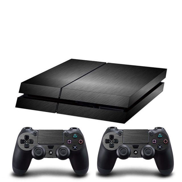 HOMEREALLY PS4 Skin Chrome Gold and Custom Vinyl HD Sticker For Sony Plsaystation4 Console and Controller Skin PS4 Accessory 4