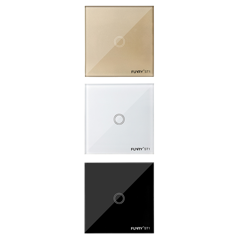 White/Black/Gold Remote Control Touch Switches 1 Gang 1 Way Waterproof Toughened Glass Panel With Remote Wall Switch smart home eu touch switch wireless remote control wall touch switch 3 gang 1 way white crystal glass panel waterproof power