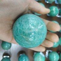 Natural crystal ball amazonite sphere quartz healing stone home decoration
