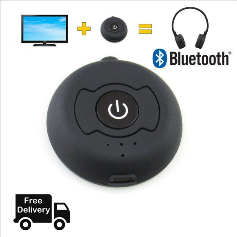 Bluetooth Muzik Pemancar Audio 4.0 H366T Wireless Adapter 3.5mm Jack TV Stereo Hantar Isyarat Audio kepada penerima melalui bluetooth