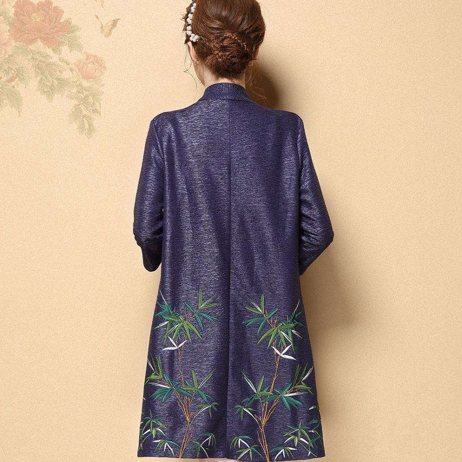 Embroidery Kimono Jacket Women Silk Cardigans Plus Size 4XL Chinese Style  Tops Poncho Loose Flower Cape Cardigan Female Cloak-in Basic Jackets from  Women's ...