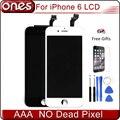 De calidad superior para el iphone 6 pantalla lcd reemplazo de la pantalla táctil del digitizador assembly + herramientas de instalación de iphone6 + templado película de vidrio