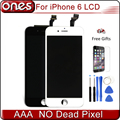 Top qualidade para iphone 6 display lcd iphone6 substituição da tela de toque digitador assembléia + ferramentas de instalação + vidro temperado film