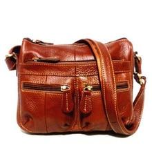 Garantieren 100% frauen des Echten Leders Messenger Vintage Umhängetasche Weibliche kreuzkörper Weichen Casual Einkaufstaschen kostenloser versand