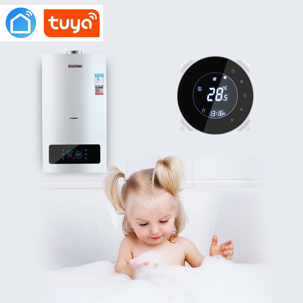 Tuya App WiFi Smart Thermostat Temperature Controller For Gas Boiler Works With Alexa Google Home