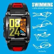 цены COXRY Swimming Outdoor Sport Smart Watch Men Compass Smartwatch GPS BDS Bluetooth Running IP68 Waterproof Heart Rate Men Watches
