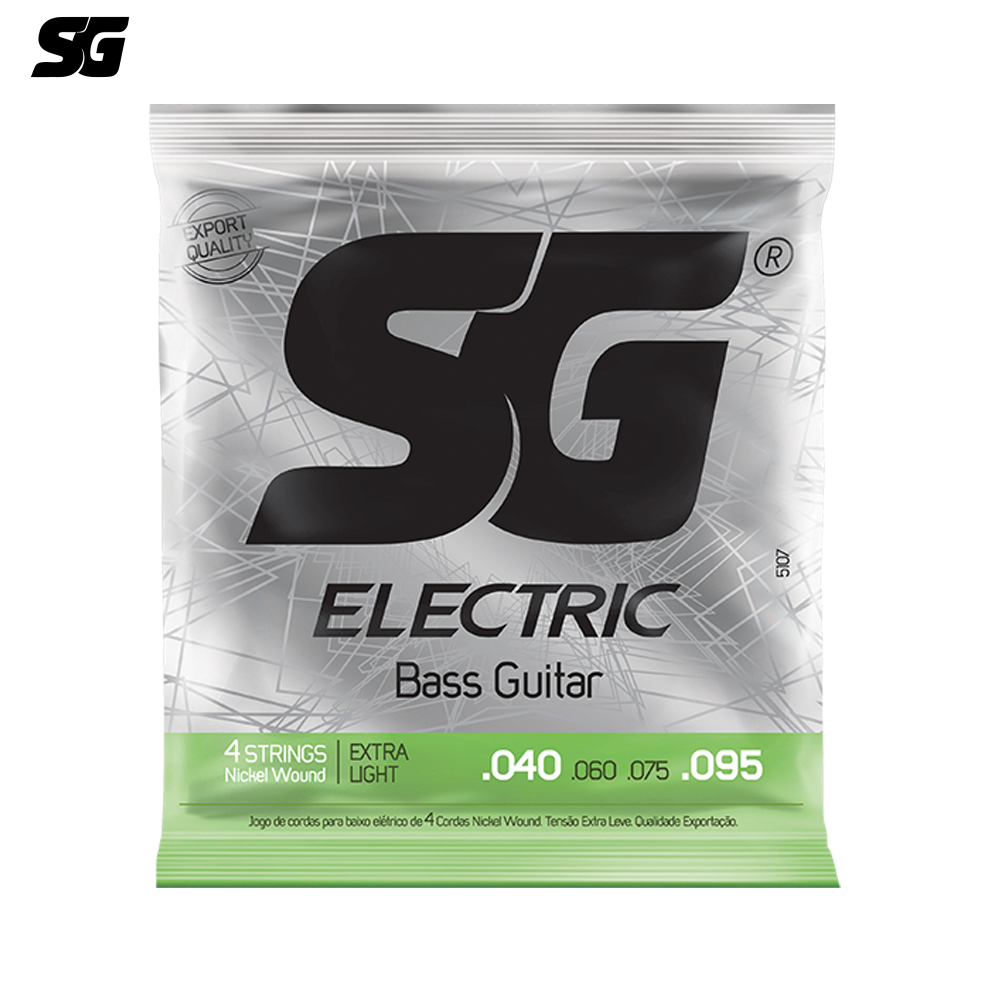 SG Brazil Electric Bass Strings 040-095 inch Tin-plated Steel Hexagonal Core Italy Technology USA Material Nickle Wound 5198EX rotosound rs66lc bass strings stainless steel