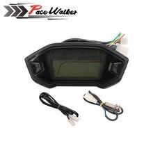 Universal Motorcycle LCD Digital Speedometer Odometer Backlight Motorcycle Odometer for 1,2,4 Cylinders