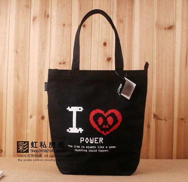 Summer 2013 women's bag student school bag canvas bag handbag bag