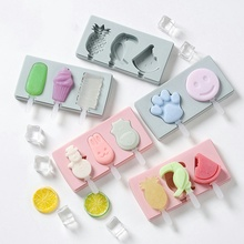 Smile Face Ice Pop Molds Popsicle Trays Cream Maker Frozen Holder Mould Kitchen Tools