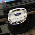 Pegatina Tapa Del Depósito de Aceite Tapa de combustible de Gas Del Coche Para Ford Edge de Combustible puerta Tapa Tapa Bisel Estilo Para Ford Edge 2015 2016 Accesorios