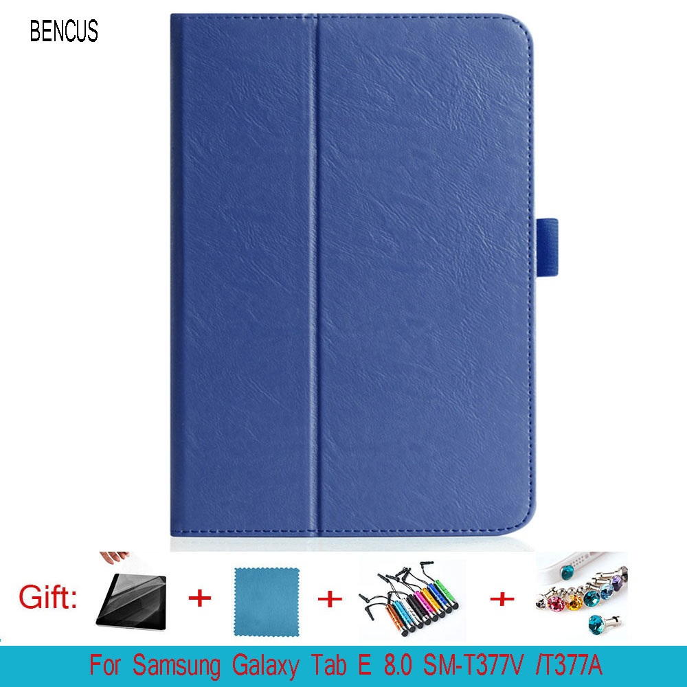 BENCUS Tablet Case Samsung Galaxy Tab E 8.0 inch SM-T377V T377A Quality PU Leather Card Handle Stand Business Protective Cover