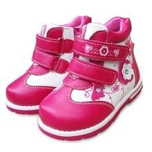 NOUVEAU Automne 1 paire Fleur Cheville En Cuir De Mode Enfants Boot, enfants PU En Cuir Bébé Fille Chaussures