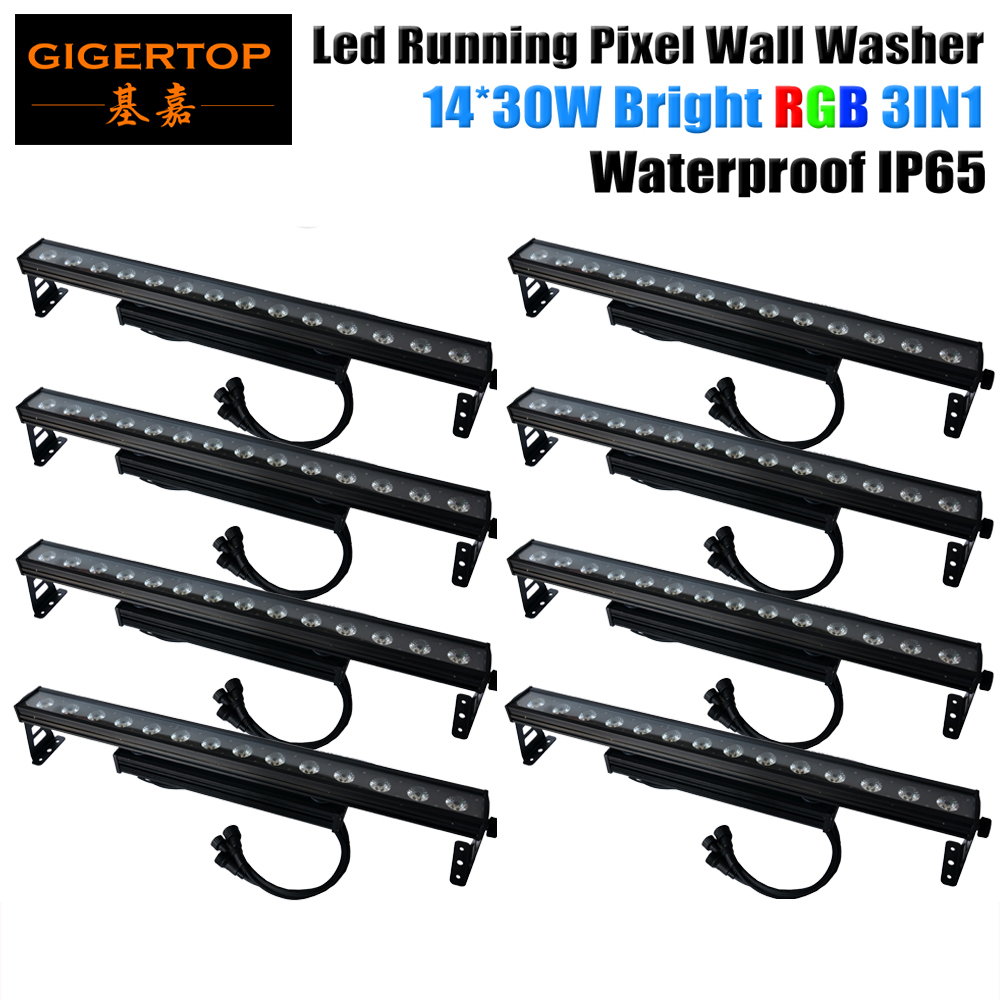 Freeshipping 8 Unit Waterproof IP65 14 x 30W RGB LED Wall Washer Light Bar Floodlight Lighting Red/Green/Blue Building Projector ultrathin led flood light 200w ac85 265v waterproof ip65 floodlight spotlight outdoor lighting free shipping