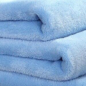 Image 4 - Big Size Super Zacht Bed Deken Fleece Solid Pure Kleur Roze Deken Plaids Spreien Gooi Voor Bed Gift