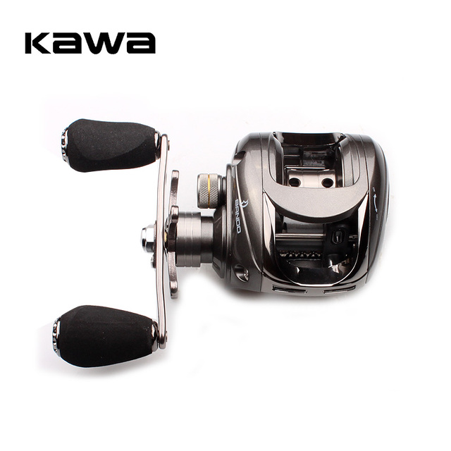 Kawa Fishing Reel Casting Reel Gear Ratio 5.1 :1 Aluminum Spool Magnetic Brake Bearing 5+1 EVA Knob 218g Max Drag 4.5KG