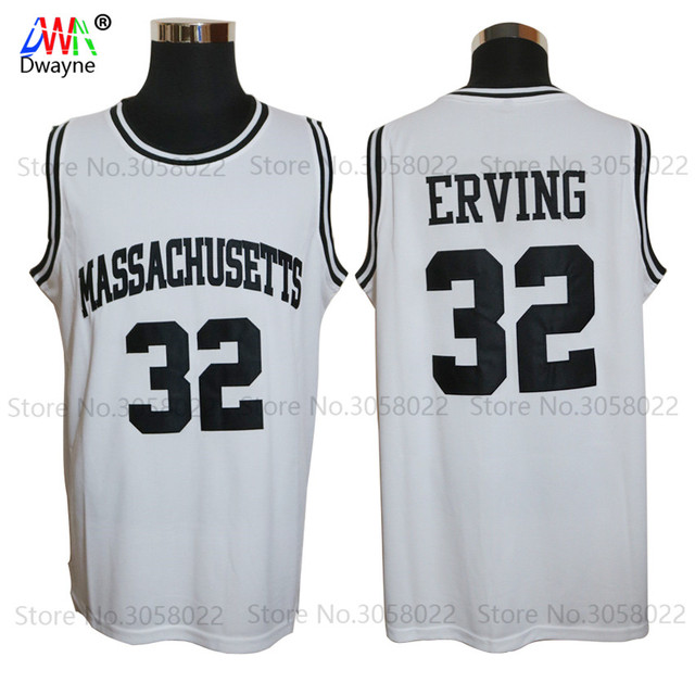 cdd1f2d6632 ... 1971 UMASS True School Massachusetts College Throwback Basketball Jersey  32 Julius Erving Jerseys Basket Dr ...