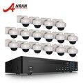 ANRAN 16CH NVR Kit sistema de seguridad CCTV 6 TB HDD Onvif 1080 p 2MP HD al aire libre a prueba de vandalismo IP red POE Cámara sistema