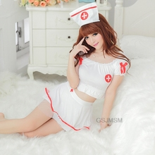 Sexy Nurse Costumes Lingerie  white Sexy Lingerie suit role-playing game cosplay costume nurse uniform temptation nightwear
