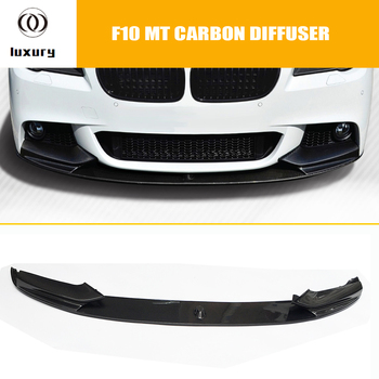 F10 M Performance Style Carbon Fiber Front Bumer Lip Spoiler for BMW F10 520i 528i 530i 535i 520d 525d 530d 535d M-tech M-sport