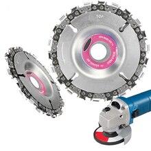 4-дюймовый 22 зуб шлифовальный диск тонкой цепной пилы 4 дюйма угловая резьба по дереву шлифовальный диск цепи для 100/115 угловая шлифовальная машина