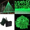 20M 200LED Solar Outdoor LED Christmas Light Fairy Lights Wedding Garden Xmas String Light Colorful Outdoor Holiday Lighting