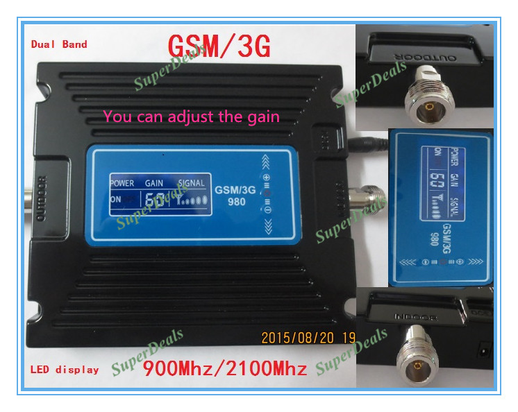 Hot Sell Device LCD Display 2G 3G GSM Repeater Cellphone GSM 900mhz 2100mhz Signal Repeater Booster