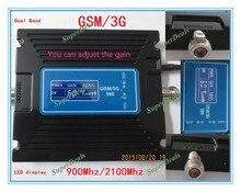 Горячий Продавать Устройства ЖК-Дисплей 2 Г 3 Г GSM Репитер, мобильный телефон GSM 900 мГц 2100 мГц Сигнал Повторителя Booster, GSM Репитер Усилитель