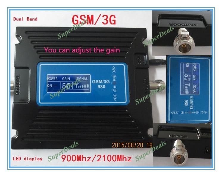 Répéteur chaud d'affichage à cristaux liquides de dispositif de vente 2G 3G GSM, propulseur de répéteur de Signal de GSM 900 mhz 2100 mhz de téléphone portable, amplificateur de répéteur de GSM