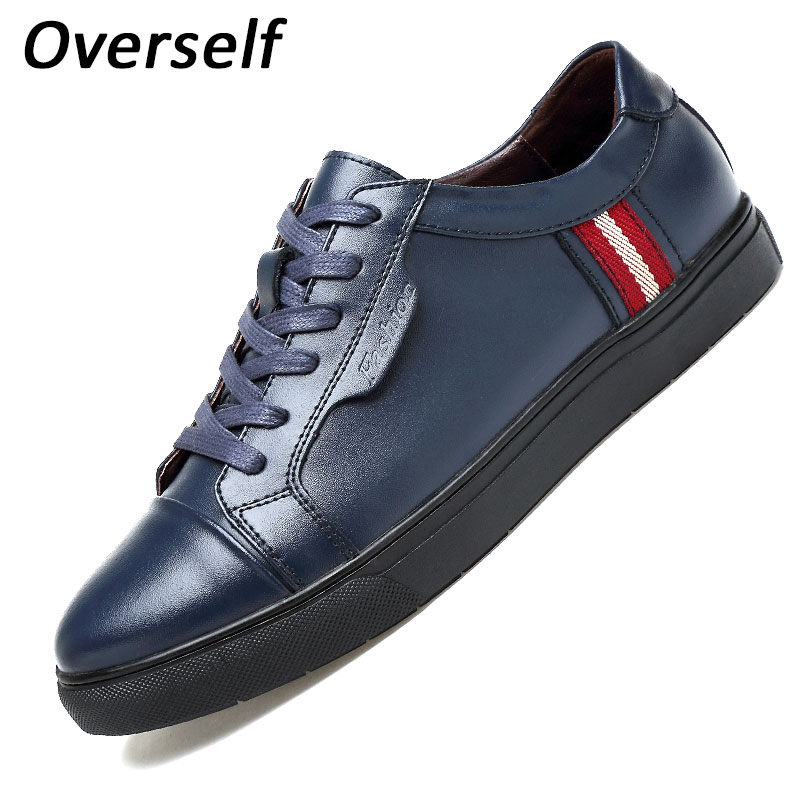 2017 New Men Casual Shoes Breathable Lace-up Genuine Leather Luxury Brand Shoes Summer Fashion Black Men's Flats Plus Big Size 2017 new women shoes genuine leather casual shoes flats breathable lace up soft fashion brand shoes comfortable round toe white