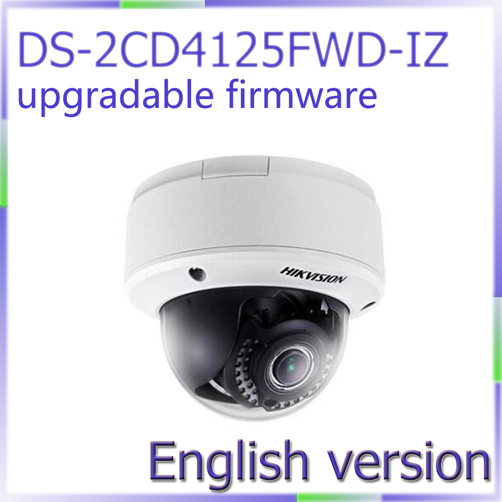 Free shipping English Version DS-2CD4125FWD-IZ 2MP Smart IP Indoor Dome Lightfighter Ultra WDR Camera free shipping english version ds 2cd4132fwd iz 3mp 120db wdr smart ip indoor dome camera support 128g poe