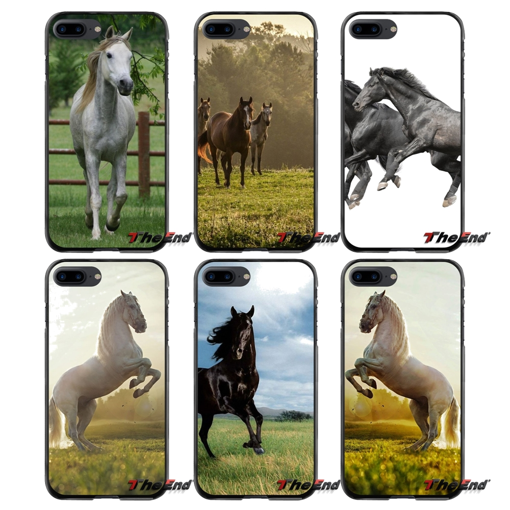 Accessories Phone Shell Covers For Apple iPhone 4 4S 5 5S 5C SE 6 6S 7 8 Plus X iPod Touch 4 5 6 Horse Animal