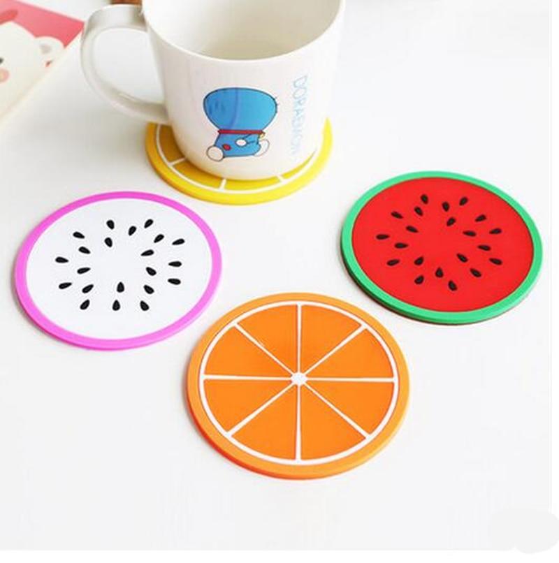 10pcs High Quality Creative Fruit Shape Antiskid Heat