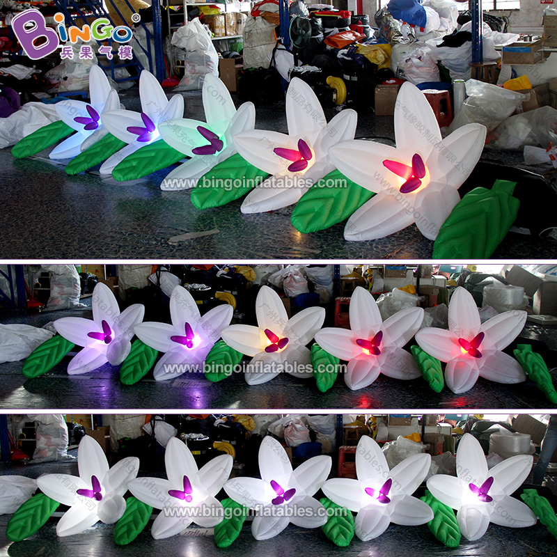 Orderly Personalized 5 Meters Long Led Inflatable Flower Chain / 16 Feet Length Inflatable Flower Chain Decoration Toys Comfortable Feel