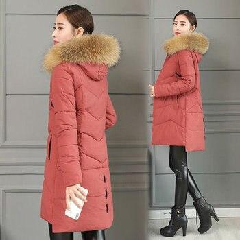 2018 Winter Coat Women 3XL  Jacket Hot Sale Long Festival Warm Plaid Parka Womens Winter Clothing Overcoat With Hat Vintage