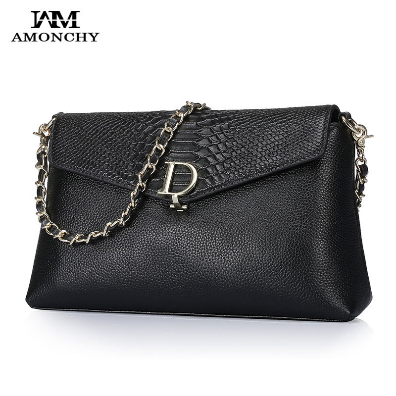 Famous Brands Women Bags Genuine Leather Women s Shoulder Bags Serpentine Ladies Messenger Crossbody Bag Chains