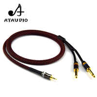 ATAUDIO Hifi Pure Copper 3.5mm to Dual 6.5mm Cable High Performance 3.5 aux to 6.35mm cable