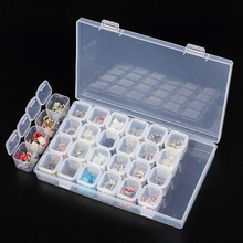 28 Slots Diamond Embroidery Box Tools Diamond Painting Accessory Case Clear plastic Beads Display Storage Boxes Cross Stitch cheap NoEnName_Null Paintings Chinese Style Resin Plaid Square Single Full PAPER BAG Rolled Up 1-30