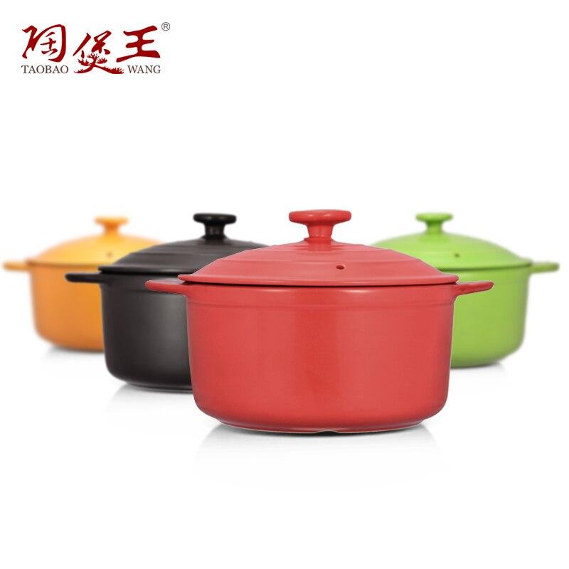 Aliexpress Com Buy 2 5l Enameled Colorful Ceramic Soup