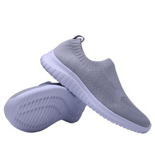 TIOSEBON Women Walking Shoes Breathable Comfort Air Mesh Gym Running Lightweight Flat High Elasticity Knit Rubber Soles Sneaker