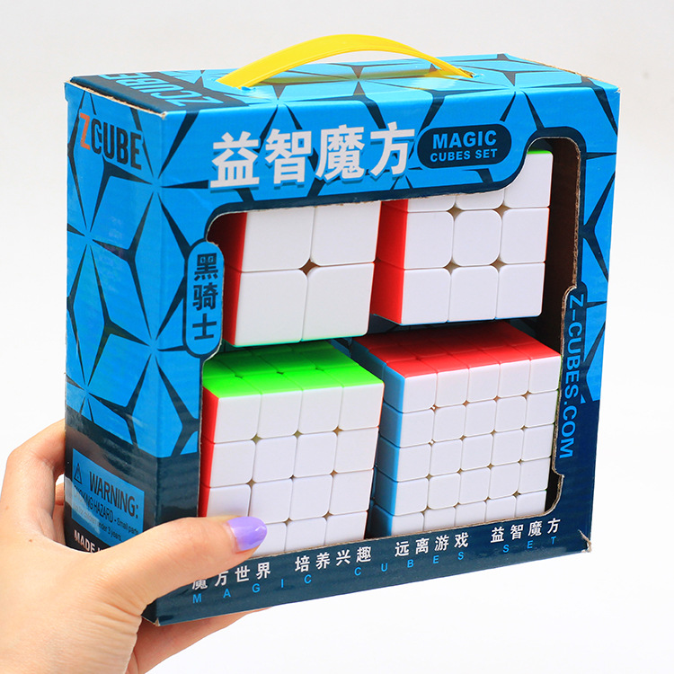 Z-Cube Bundle Black Knight 2x2 3x3 4x4 5x5 Speed Cube Set Cube Pack Puzzle Stickerless Cube Magic Fidget Toy Gift Box z cube bundle black knight 2x2 3x3 4x4 5x5 speed cube set cube pack puzzle carbon fiber cube magic fidget toy gift box