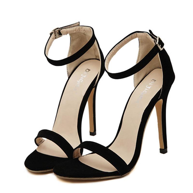 e7cb8eb6 Más el Tamaño 35 43 Partido de Las Mujeres Sandalias de Verano de Marca  Elegante Tacones Altos Sandalias Mujer Negro de Plata de Oro de Las Mujeres  Zapatos ...