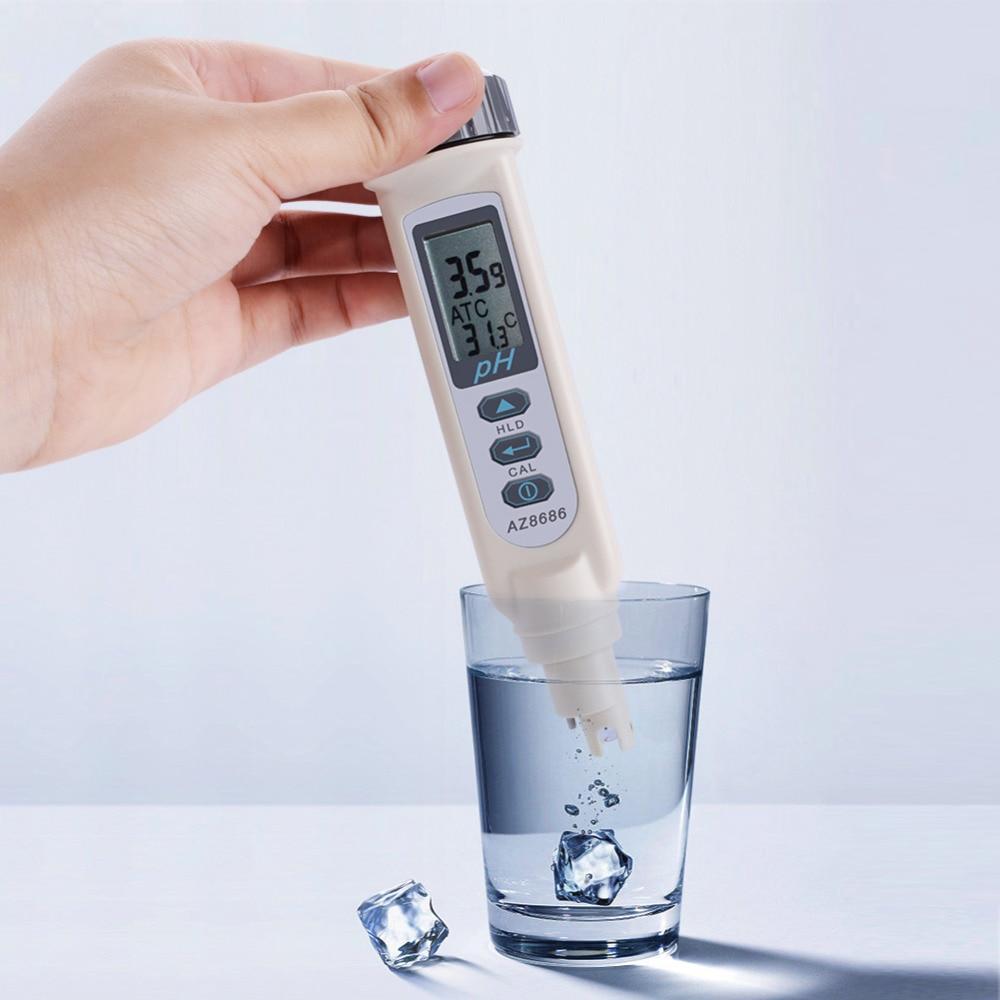 купить Portable Digital pH Temperature Tester Pen Type Waterproof pH Water Tester Temperature + pH Dual Display Measuring Device по цене 3656.91 рублей