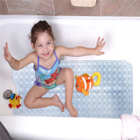40x100cm Long PVC Bathtub Bath Mat With Sucker Security Bathroom Shower Mat Applicable To Elderly Children