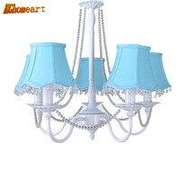 HGHomeart Modern LED Chandelier Lustre Design Suspension Living Room Chandelier On The Ceiling Blue Lamp Home
